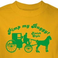 Pimp My Buggy Shirt Amish Style Yellow Tee T-shirt
