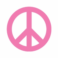 Pink Peace Ladies T-shirts