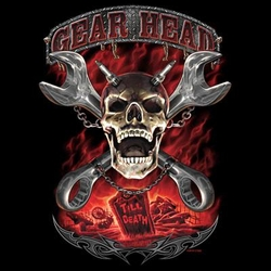Biker Shirt - Gear Head Till Death Mens Tee