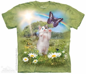 Playful Kitten Shirt Tie Dye Adult T-Shirt Tee