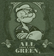 Popeye All About The Green Shirts