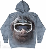 Powder Pig Hoodie Tie Dye Adult Hooded Sweat Shirt Hoody