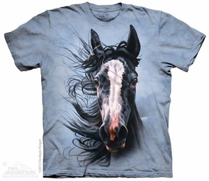 Pretty Paint Horse Shirt Tie Dye Adult T-Shirt Tee