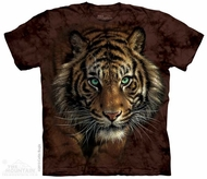 Prowling Tiger Shirt Tie Dye Adult T-Shirt Tee