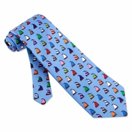 Rainbow Fleet Tie Blue Silk Necktie � Mens Sports Neck Tie