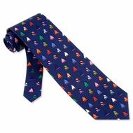 Rainbow Fleet Tie Navy Blue Silk Necktie - Mens Occupational Neck Tie