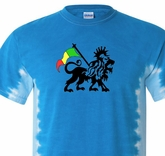 Rasta Lion Tie Dye Shirt - T-Bone Royal Blue Tee