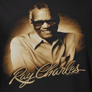 Ray Charles Sepia Portrait Shirts