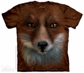 Red Fox Face Shirt Tie Dye Adult T-Shirt Tee