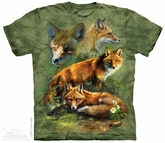 Red Fox Shirt Tie Dye Adult T-Shirt Tee