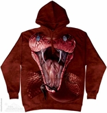 Red Mamba Hoodie Tie Dye Adult Hooded Sweat Shirt Hoody
