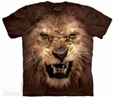 Roaring Lion Shirt Tie Dye Adult T-Shirt Tee