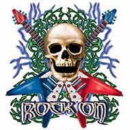 Rock On Skull T-shirt - Guitars with Skull Tee
