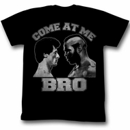 Rocky Shirt Come At Me Bro Black T-Shirt