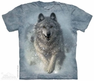 Running Wolves Shirt Tie Dye Adult T-Shirt Tee