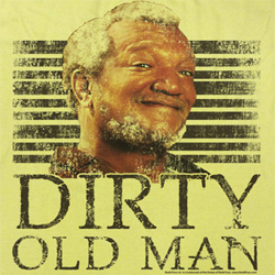 Sanford & Son Shirt Dirty Old Man Adult Yellow Tee T-Shirt
