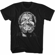 Sanford & Son Shirt Smile Fred Black T-Shirt