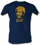 Sanford & Son T-shirt Redd Foxx Big Dummy Adult Navy Blue Tee Shirt
