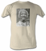 Sanford & Son T-shirt Redd Foxx Fred Square Picture Adult White Shirt