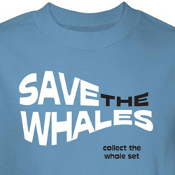 Save The Whales Shirt Collect Whole Set Blue Tee T-shirt