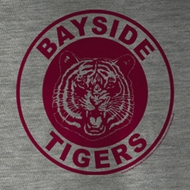 Saved By The Bell Shirt Bayside Tigers Adult Gray Heather Tee T-Shirt