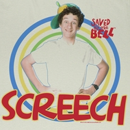 Saved By The Bell Shirt Screech Adult White Tee Shirt