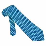 Sea Turtles Blue Silk Tie Necktie - Men's Animal Print Neck Tie