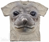 Seal Face Shirt Tie Dye Adult T-Shirt Tee