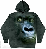Silverback Gorilla Hoodie Tie Dye Adult Hooded Sweat Shirt Hoody