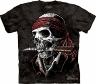 Skull Shirt Tie Dye Skull Undead Pirate T-shirt Adult Tee