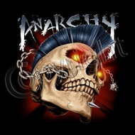 Skull T-shirt - Anarchy Biker Tee Shirt