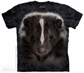 Skunk Portrait Shirt Tie Dye Adult T-Shirt Tee