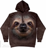 Sloth Face Hoodie Tie Dye Adult Hooded Sweat Shirt Hoody
