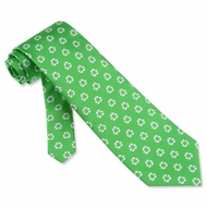 Small Recycle Tie Green Microfiber Necktie Mens Occupational Neck Tie