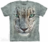 Snow Leopard Shirt Tie Dye Adult T-Shirt Tee