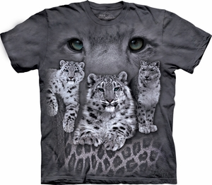 Snow Leopards Shirt Tie Dye T-shirt Adult Tee
