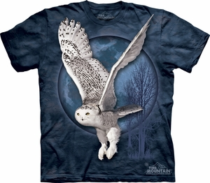 Snow Owl Shirt Tie Dye T-shirt Moon Adult Tee
