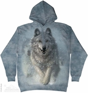 Snow Wolves Hoodie Tie Dye Adult Hooded Sweat Shirt Hoody