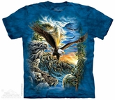 Soaring Eagle Shirt Tie Dye Adult T-Shirt Tee