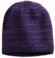 Space Dyed Purple Heather Beanie Hat
