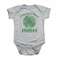 St. Patrick's Day Baby Romper Irish Wish Athletic Heather Infant Babies Creeper