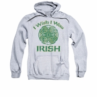 St. Patrick's Day Hoodie Sweatshirt Irish Wish Athletic Heather Adult Hoody Sweat Shirt