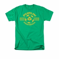 St. Patrick's Day Shirt Dublin Football Adult Kelly Green Tee T-Shirt