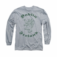 St. Patrick's Day Shirt Dublin Ireland Long Sleeve Athletic Heather Tee