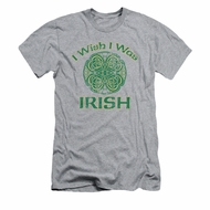 St. Patrick's Day Shirt Irish Wish Adult Athletic Heather Tee T-Shirt