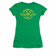 St. Patrick's Day Shirt Juniors Dublin Football Kelly Green Tee T-Shirt