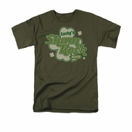 St. Patrick's Day Shirt Lucky's Shamrock Adult Green Tee T-Shirt