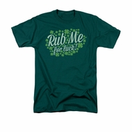 St. Patrick's Day Shirt Rub Me Adult Hunter Green Tee T-Shirt