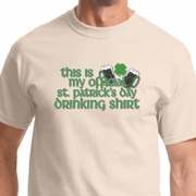 St Patricks Day Official Drinking Shirt Shirts