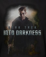 Star Trek 2013 Shirt - Into Darkness Kirk Black Tee